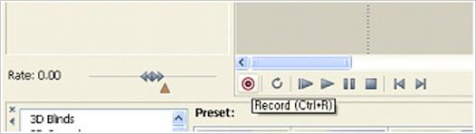 Record 버튼의 모습