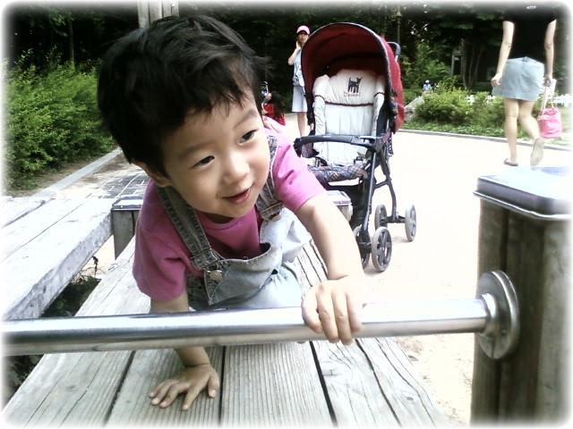용돌이와 아빠의 주말 산책