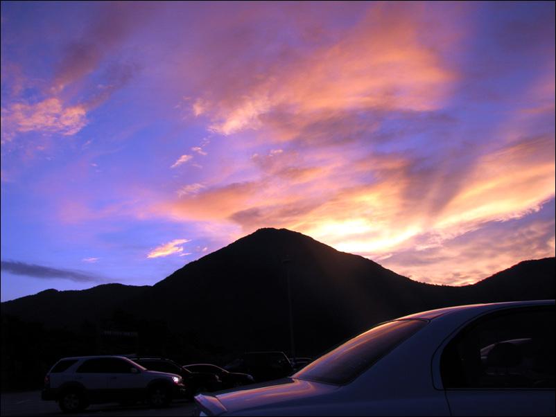 하늘을 뒤덮은 붉은저녁노을