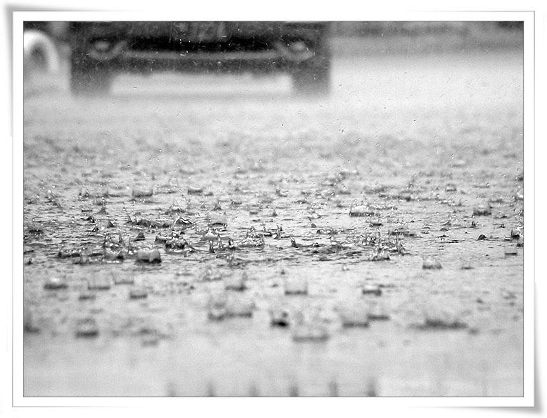 비오는 거리