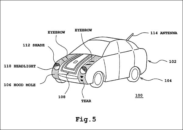 Car with Facial Expression - Toyota patent