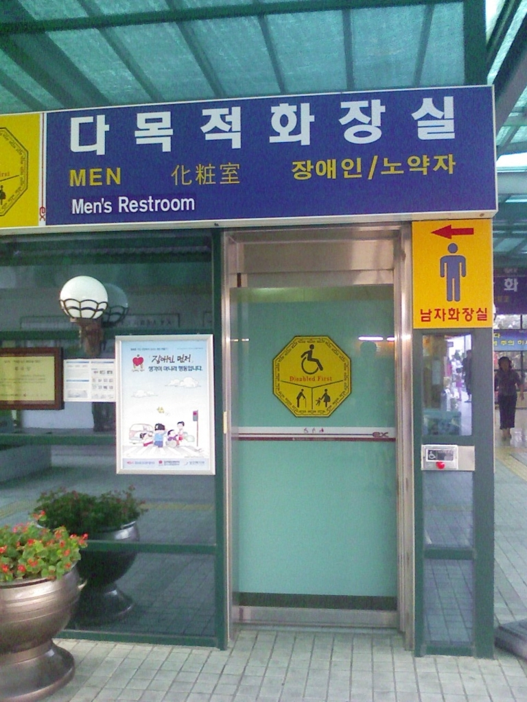 Men's Rest Room (for the disabled, the senior, and for diaperring), at MoonMak Resting Place