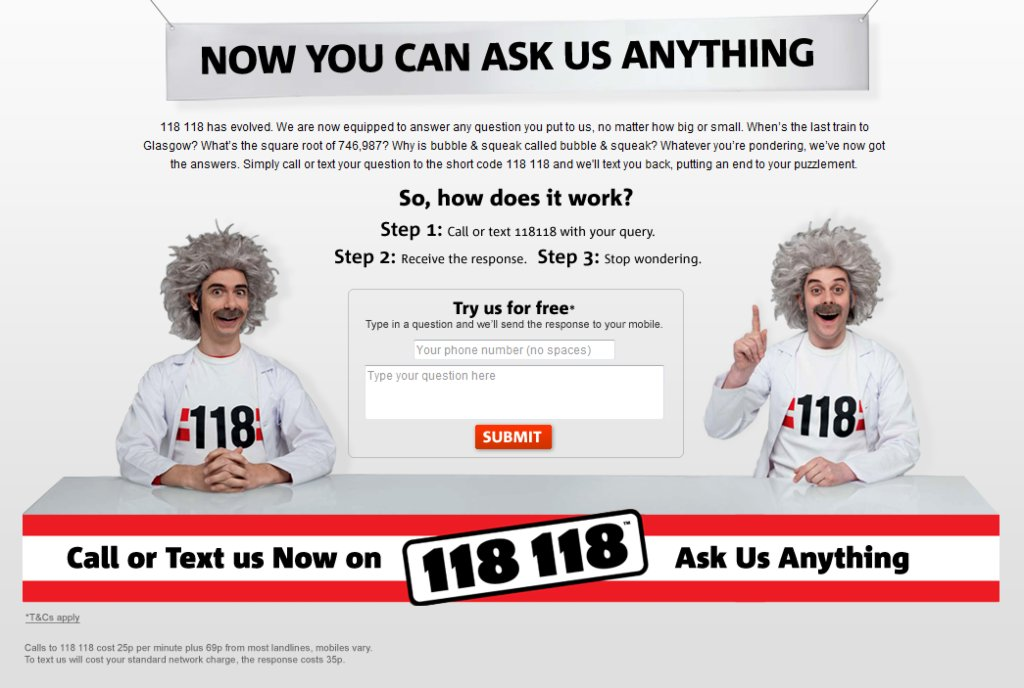 118 118 - Now you can ask us anything