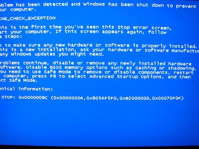WindowsXP Blue Sreen