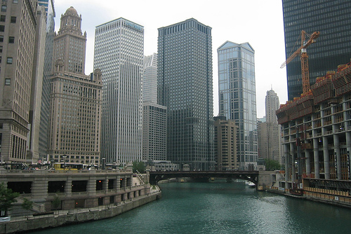 Chicago River - Dearborn Street Bridge