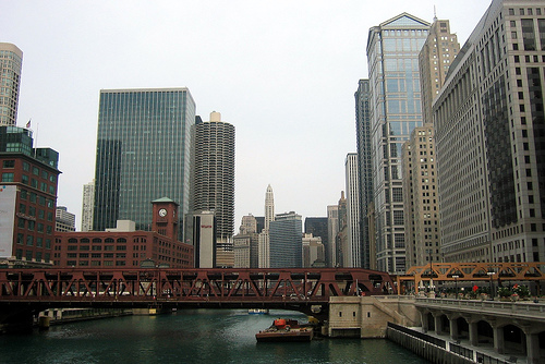 Chicago River - Wells Street Bridge
