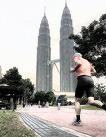 Jogger in Kuala Lumpur