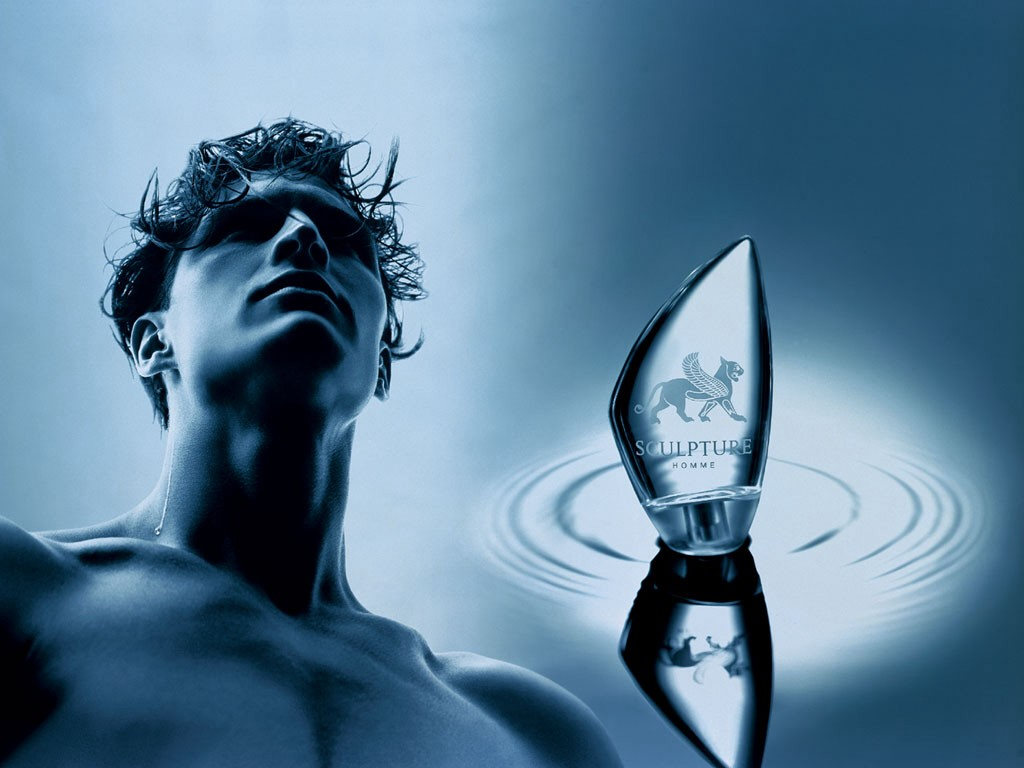 남성용 향수광고사진(1)