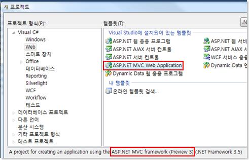 MVC Project가 추가된 화면